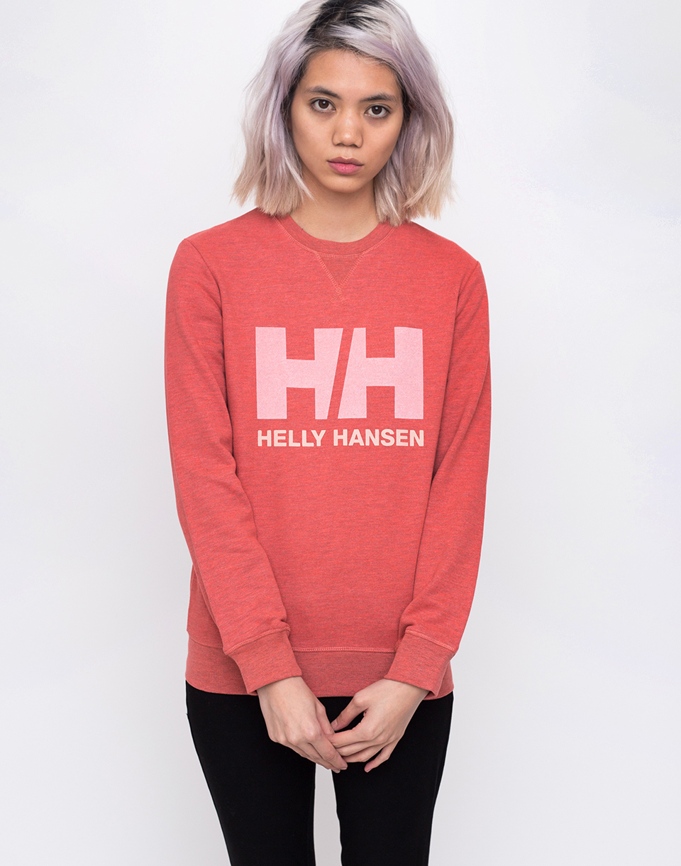 Helly Hansen Logo Crew Sweat Faded Rose Melange L