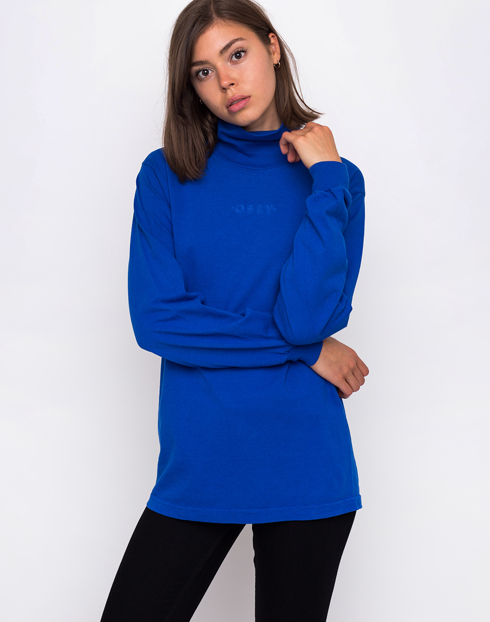 Obey Moody Top Royal Blue L
