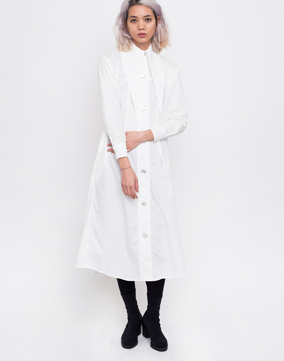 House of Sunny Western Full Length Shacket Mineral White 34