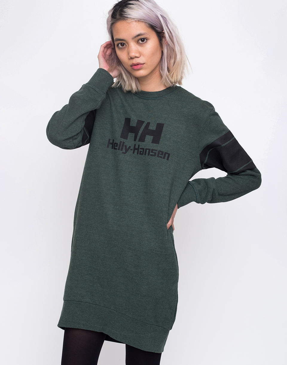 Helly Hansen Sweat Dress Mountain Green Melange L