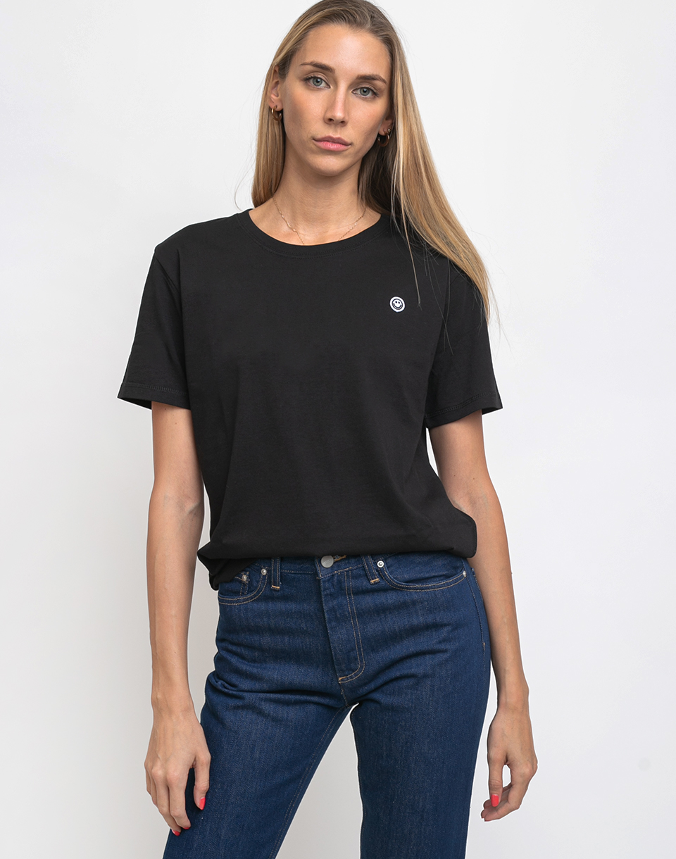 Rotholz Smiley Cropped T Shirt Black L