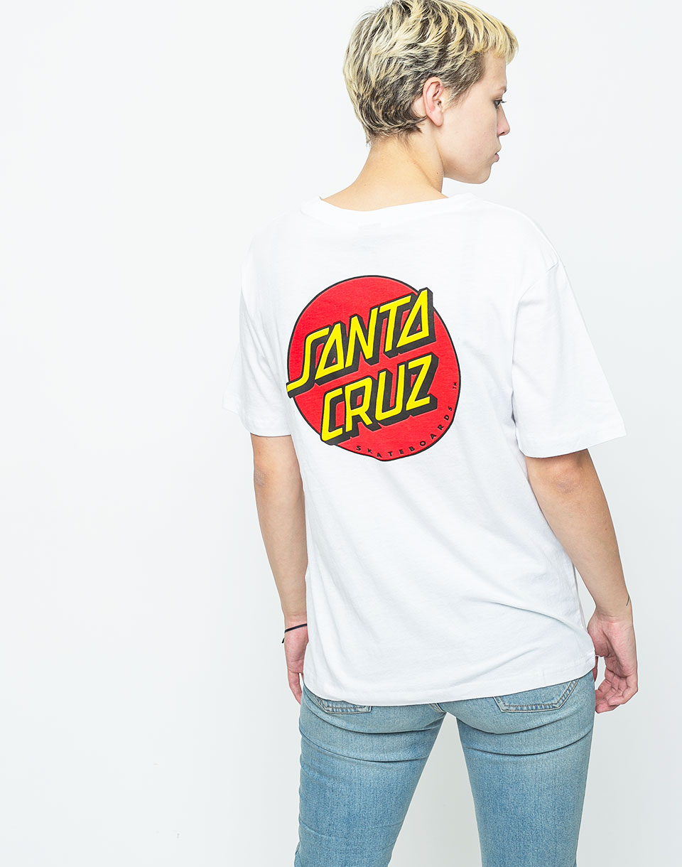 Santa Cruz Classic Dot white S