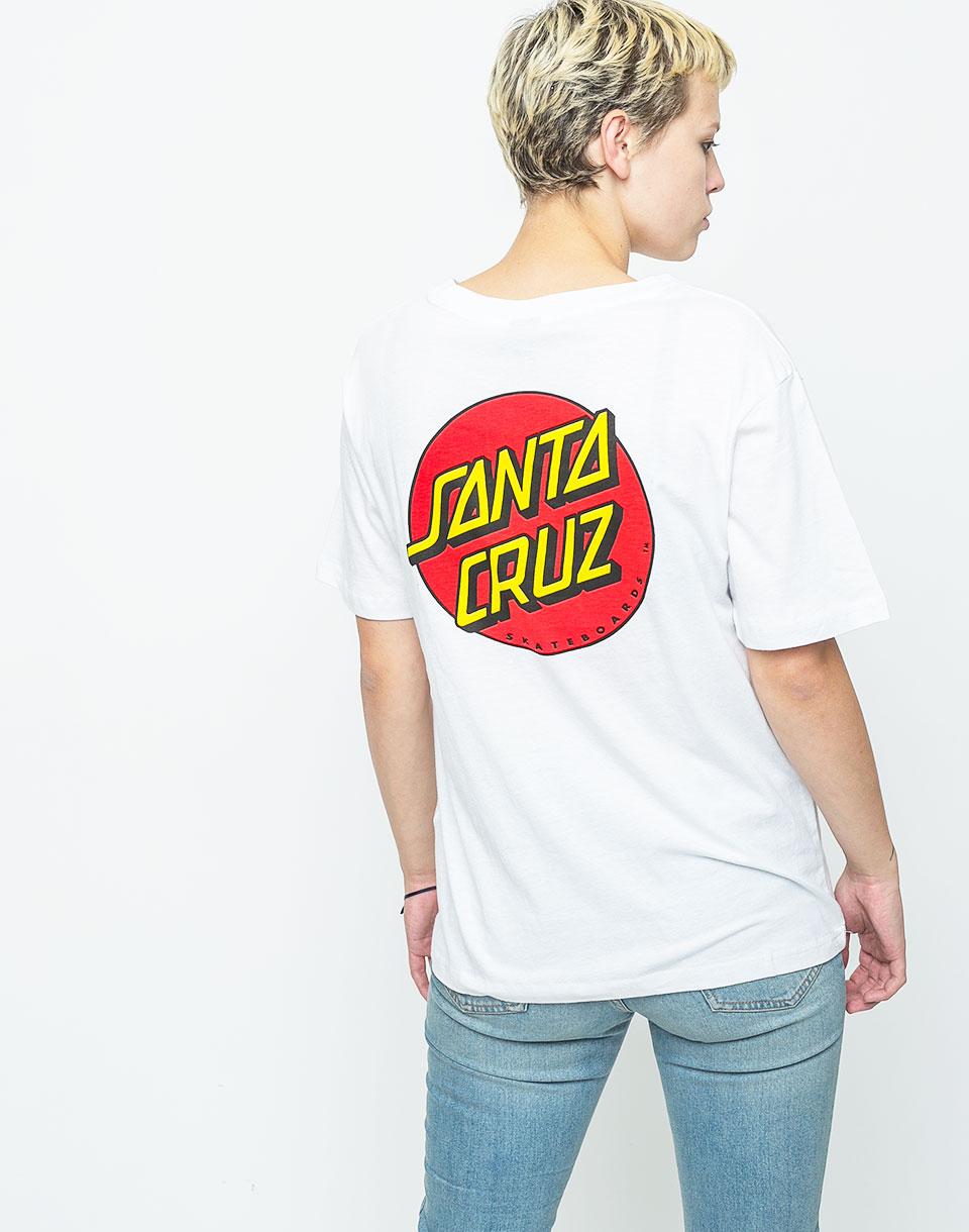 Logo tee Santa Cruz Classic Dot WHITE L