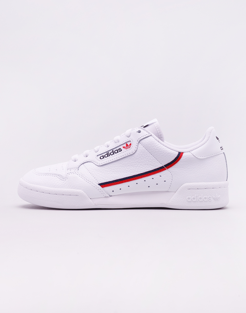 adidas Originals Continental 80 Footwear White   Scarlet  Collegiate Navy 42