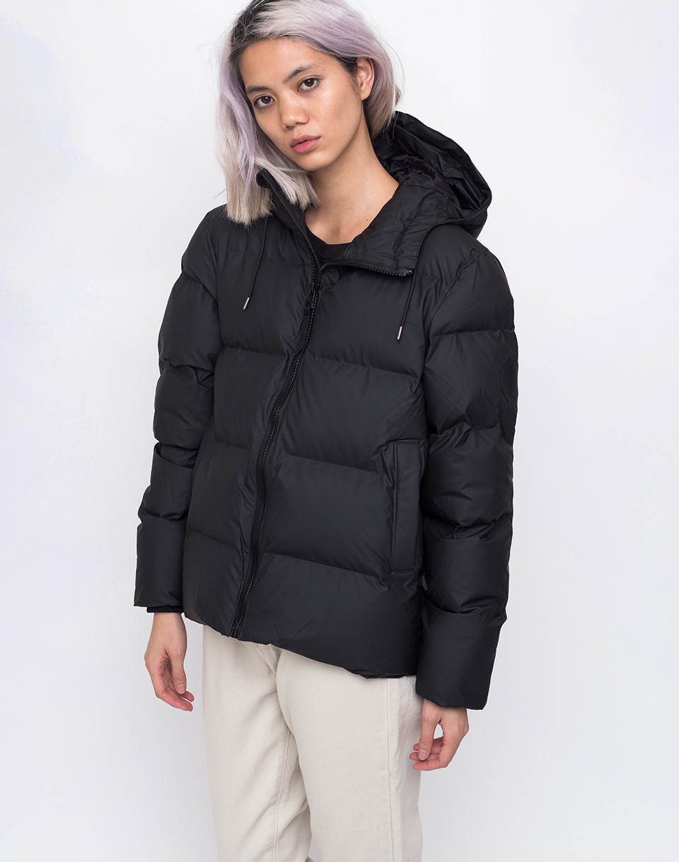 Rains Puffer Jacket 01 Black S M