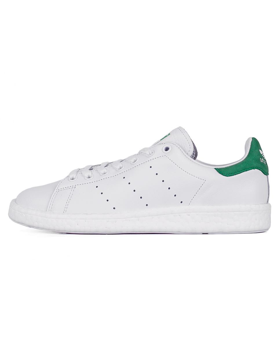 Sneakers - tenisky Adidas Originals Stan Smith Boost Footwear White / Footwear White / Green 42 + doprava zdarma