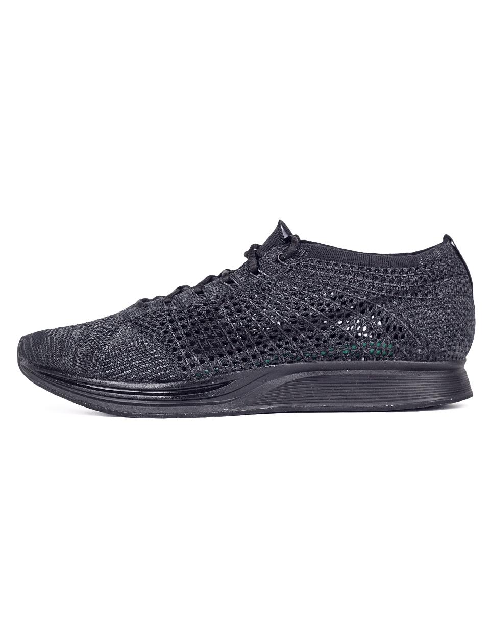 Sneakers - tenisky Nike Flyknit Racer Black / Black - Anthracite 42 + doprava zdarma