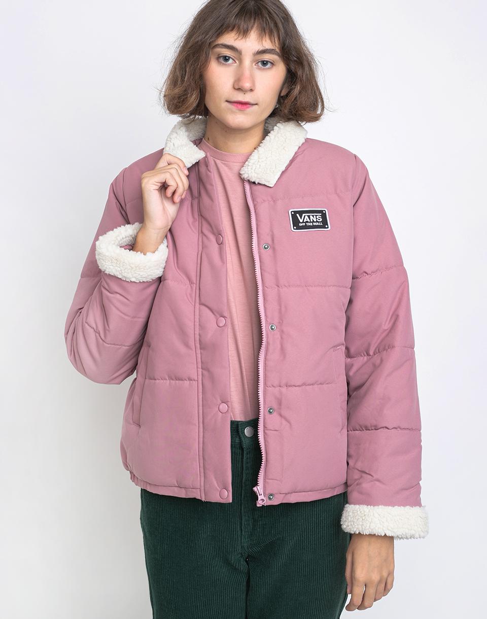 Vans Fawner Puffer Jacket Nostalgia Rose XS