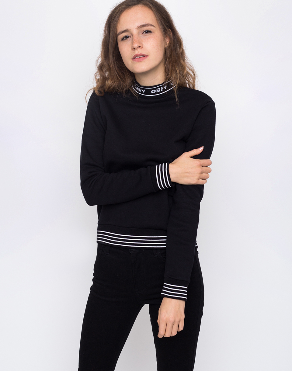 Obey Quincy Mockneck Black L