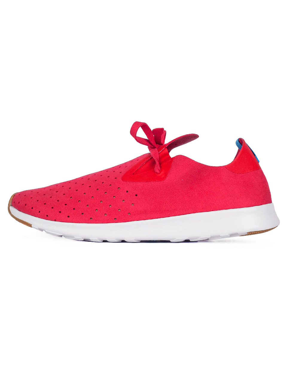 Native Apollo Moc Torch Red  Shell White  Nat Rubber 44