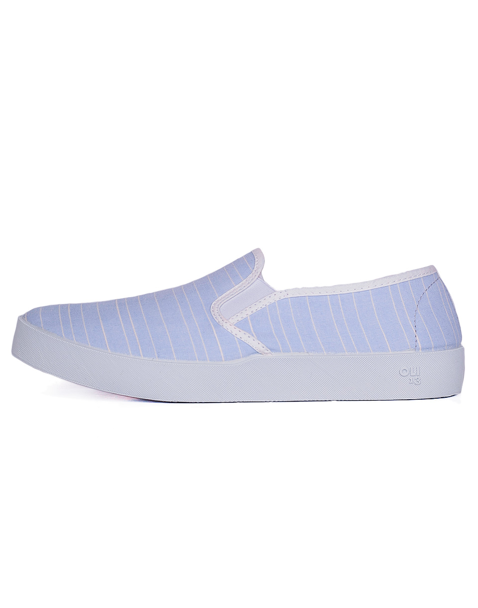 Slip-on Oli13 Slip On Slip on Stripes Light Blue/White canvas 43