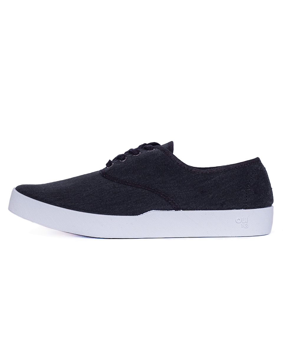Sneakers - tenisky Oli13 Oxford Oxford Black/White canvas 42