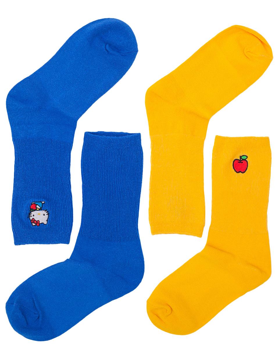 Dárkový Pack Lazy Oaf Hello Kitty Sock Pack #2 Blue / Yellow