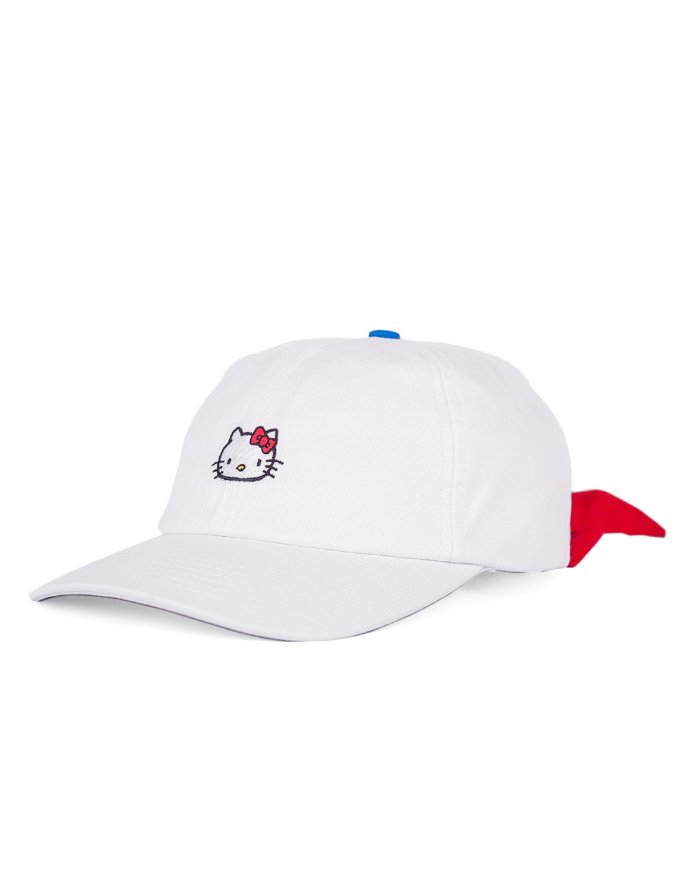 Dad cap Lazy Oaf Hello Kitty Bow Tie WHITE