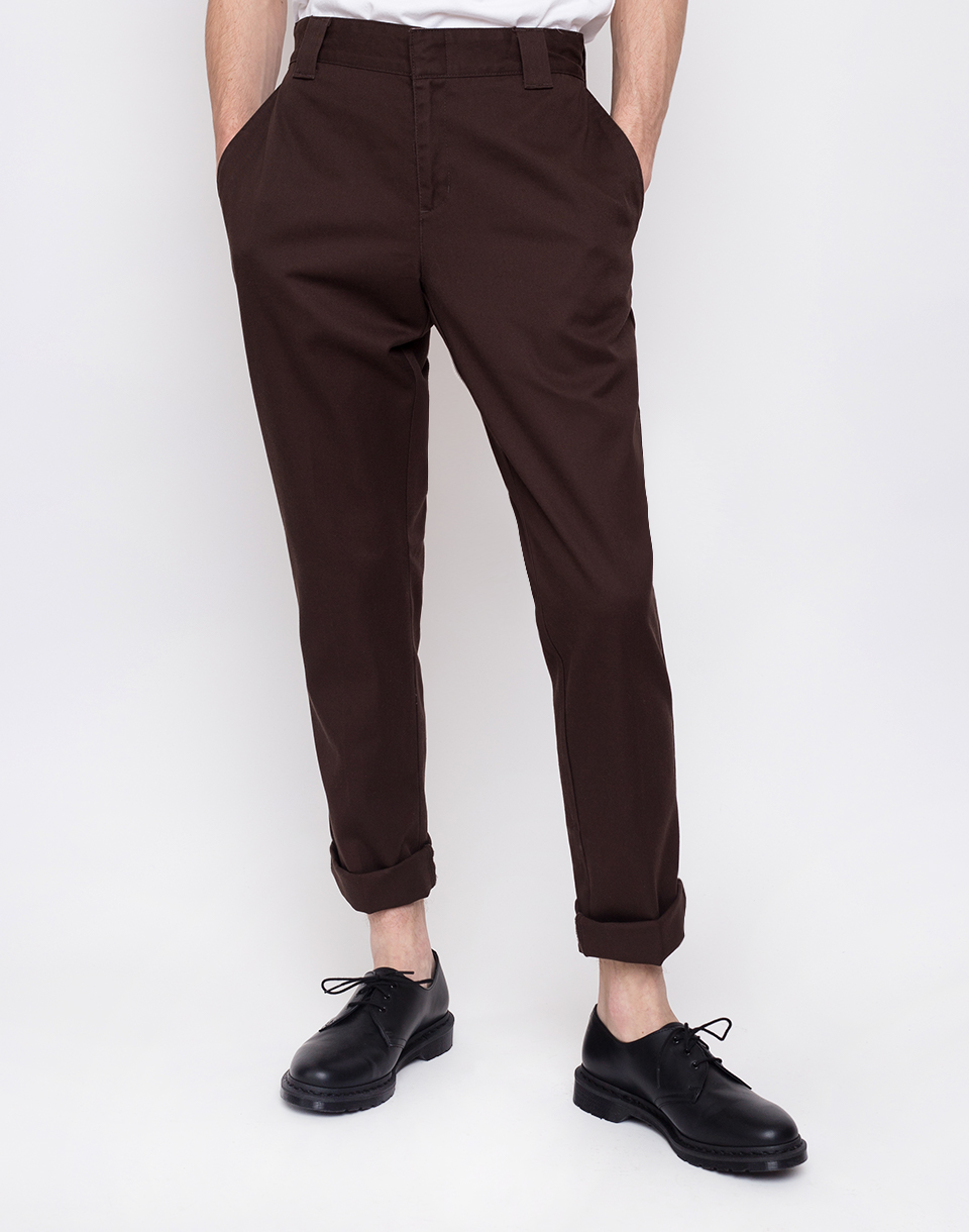 Dickies Slim Fit Work Pnt Chocolate Brown W33 L32