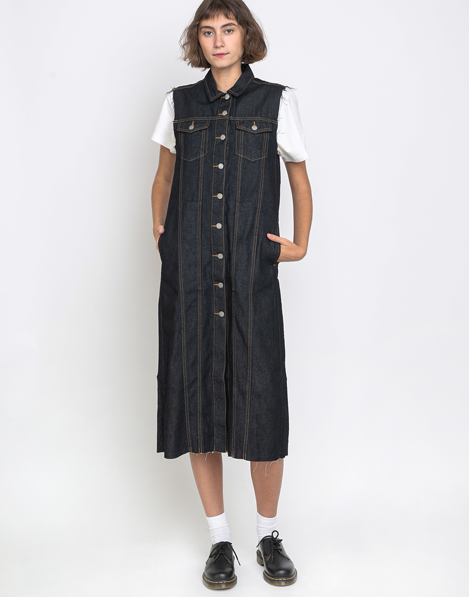 Dr  Denim Trine Denim Dress Blue Stone Washed L