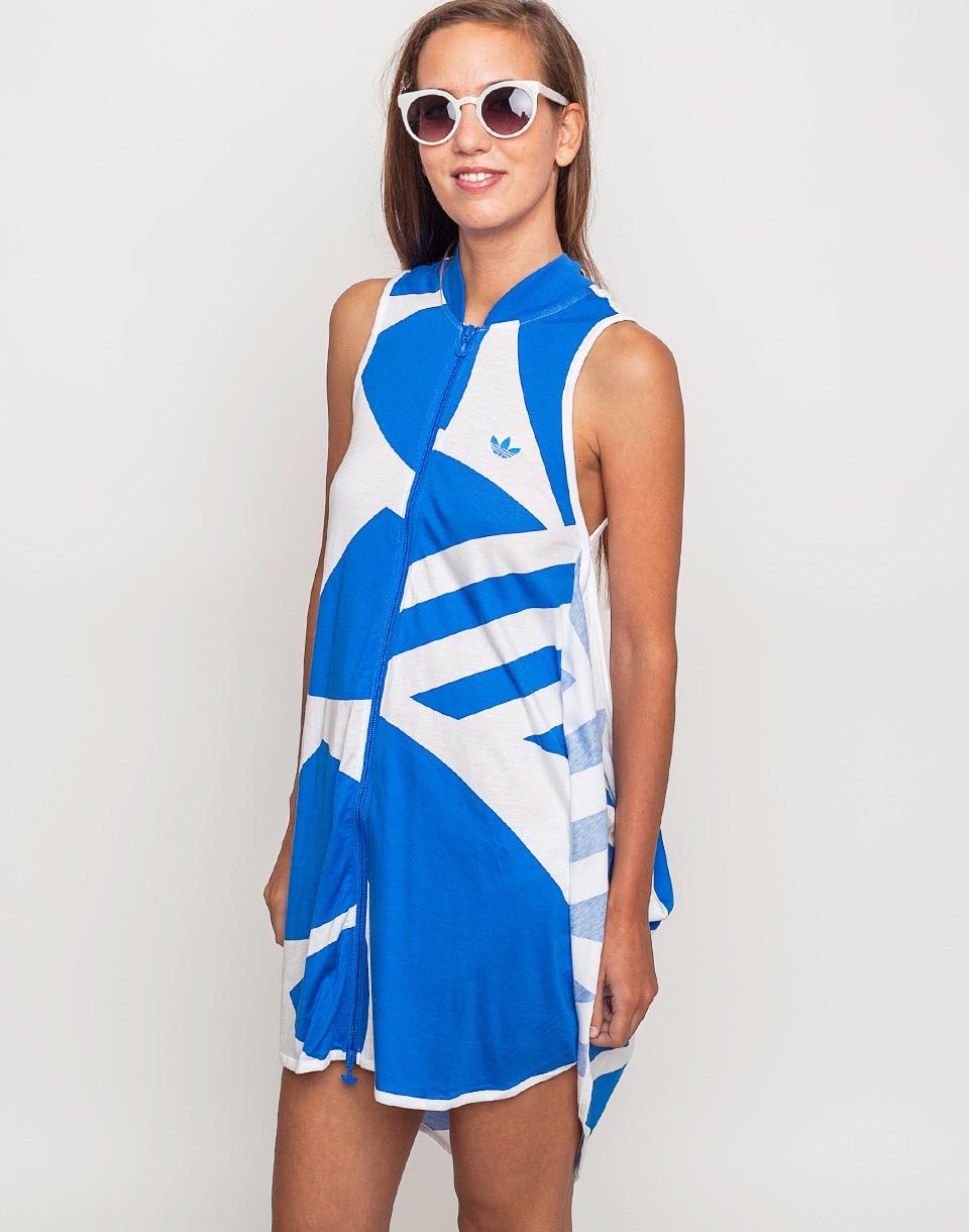 Šaty Adidas Originals Couture S white/blubir 40