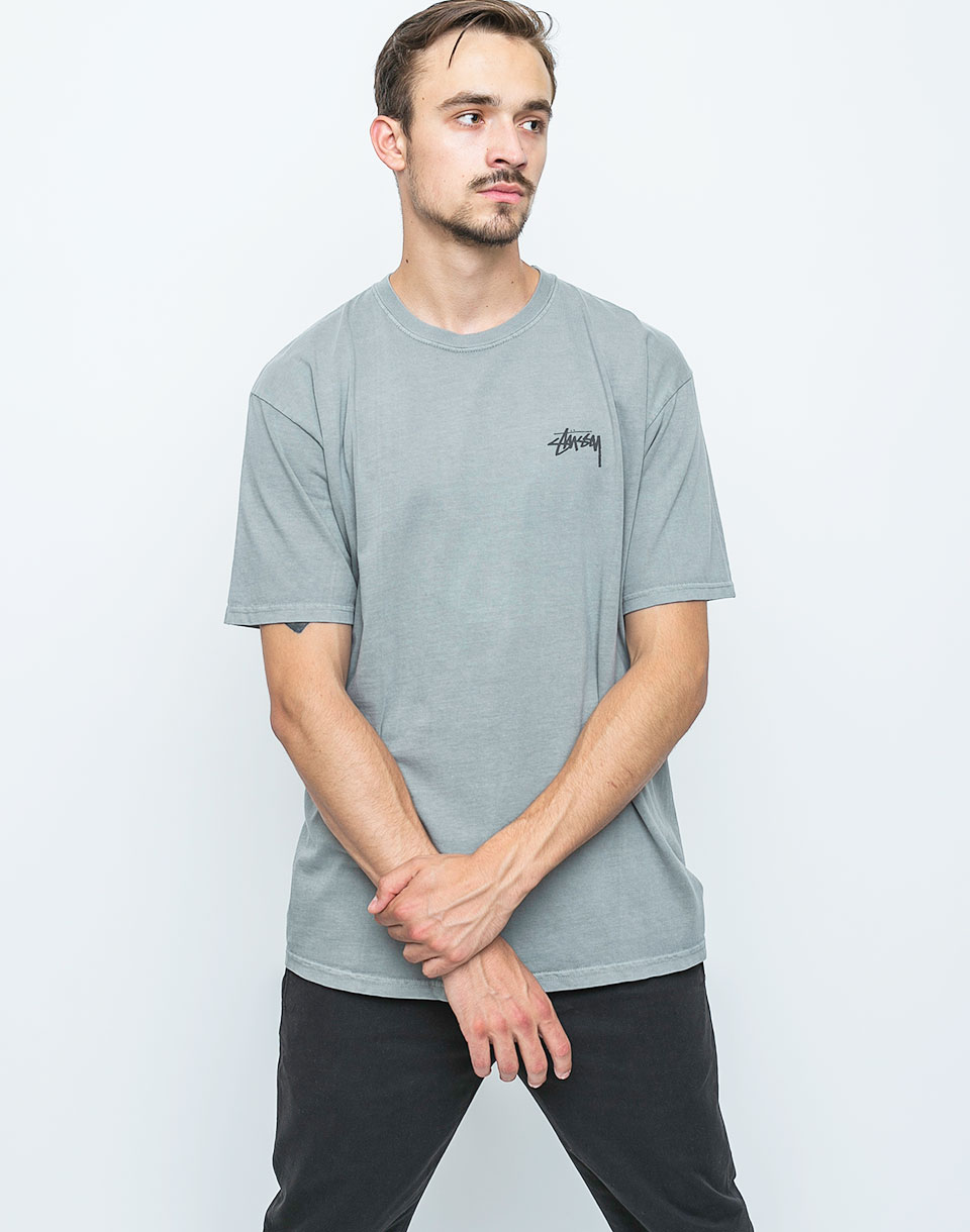Logo tee Stussy Dice Pigment Dyed Cool Grey l