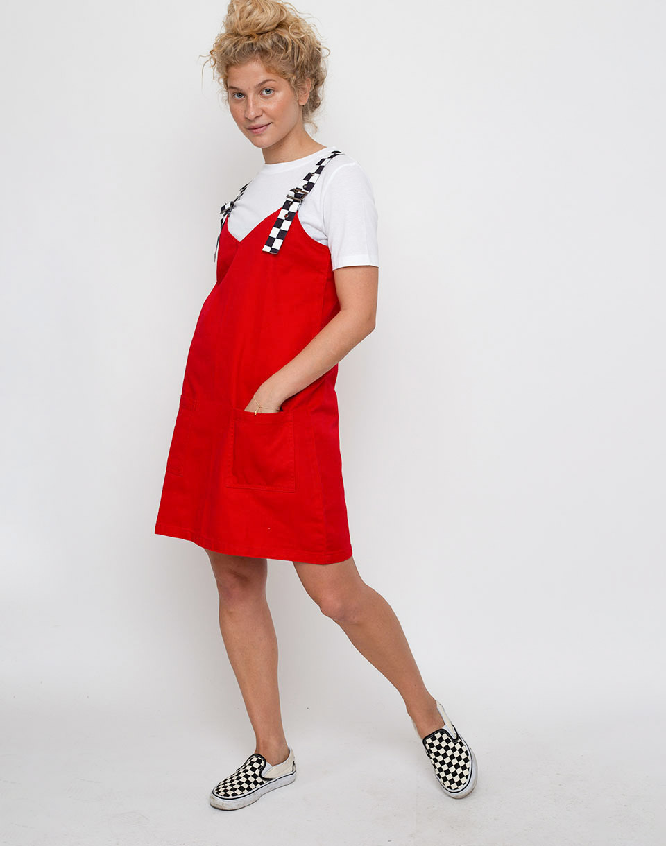 Lazy Oaf Buckle Pinafore Red S