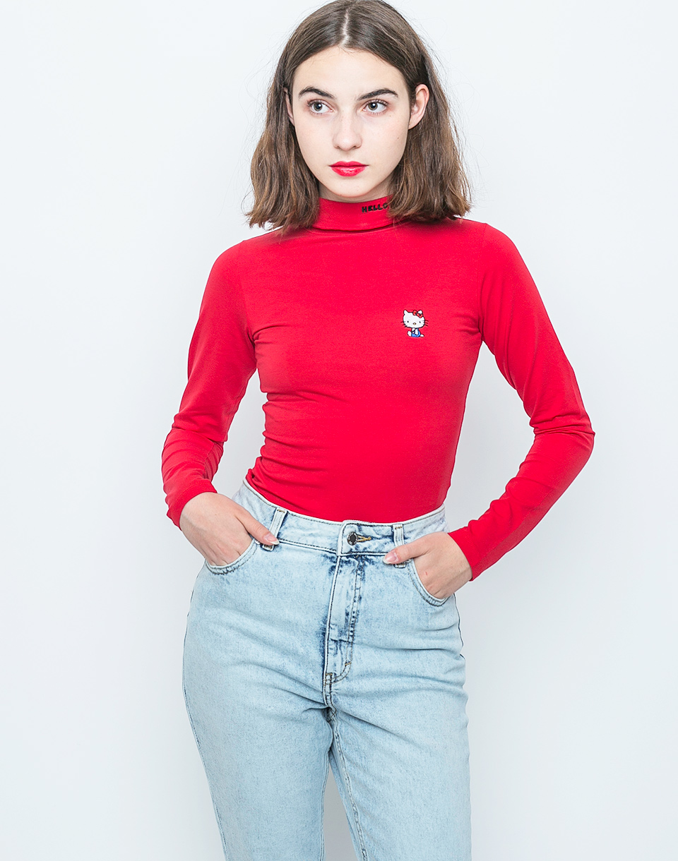 Triko Lazy Oaf Hello Kitty Skivvy red XS