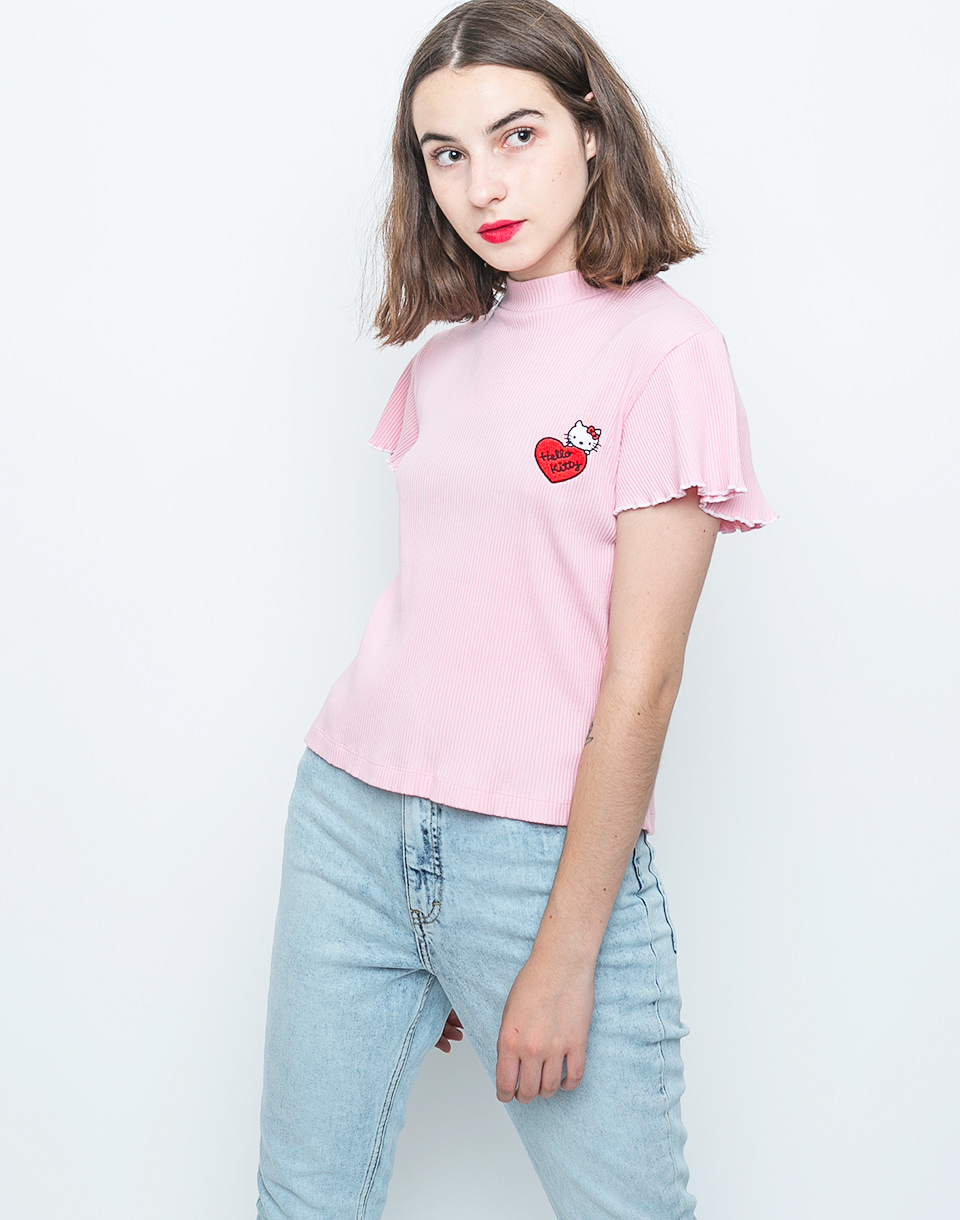 Triko Lazy Oaf Hello Kitty Frilly pink m