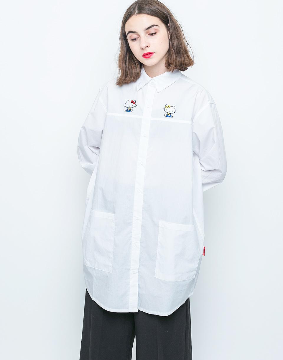 Košile Lazy Oaf Hello Kitty Bow Tie white S/M + doprava zdarma + novinka