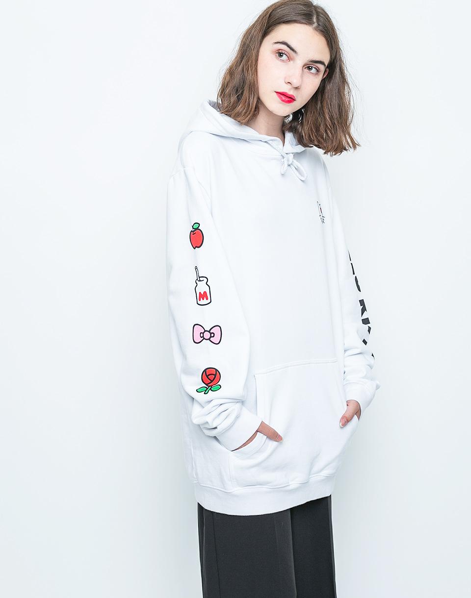 Mikina Lazy Oaf Hello Kitty Oversized Hoodie white M + doprava zdarma