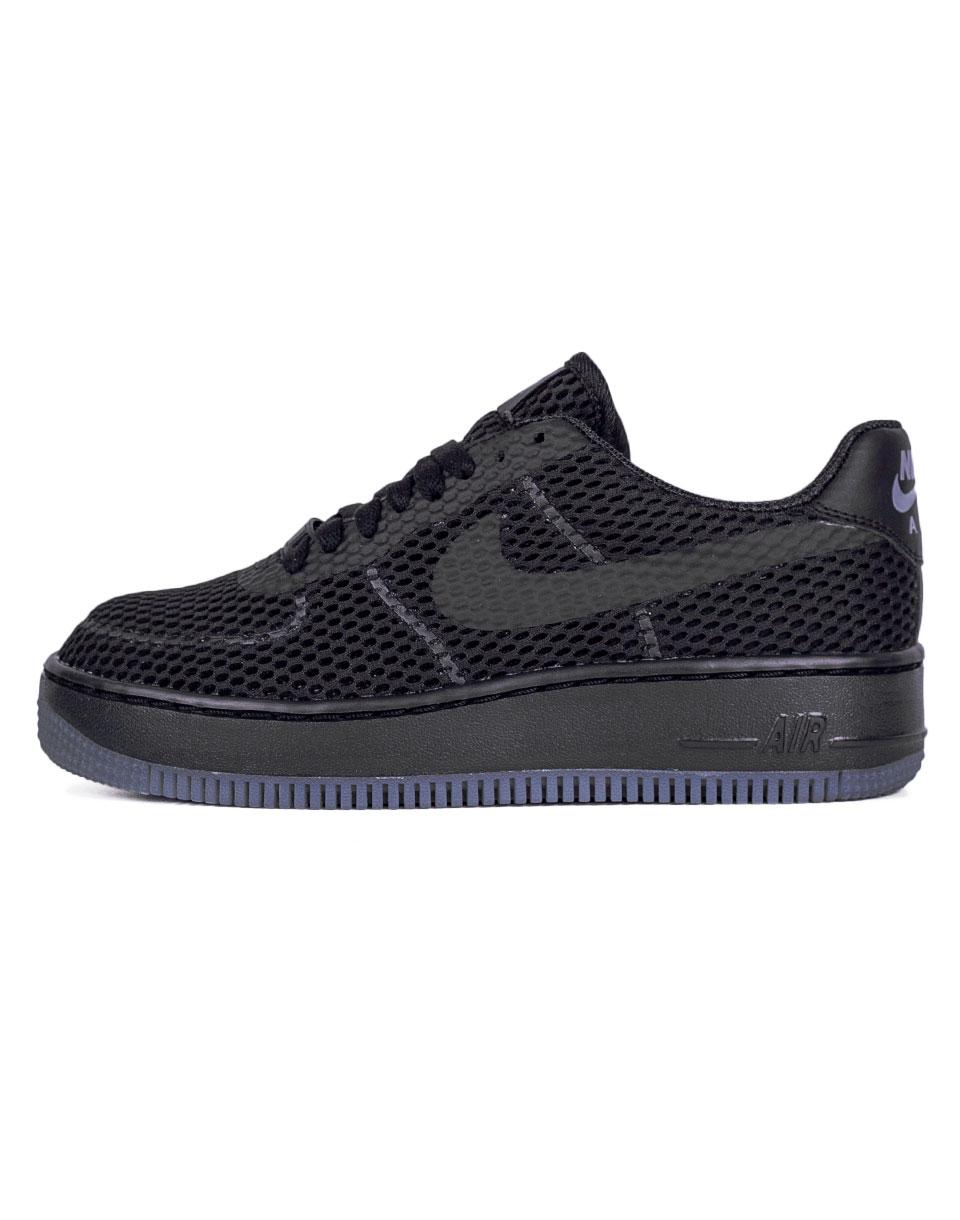 Sneakers - tenisky Nike Air Force 1 Low Upstep BR BLACK/BLACK-COOL GREY 40 + doprava zdarma