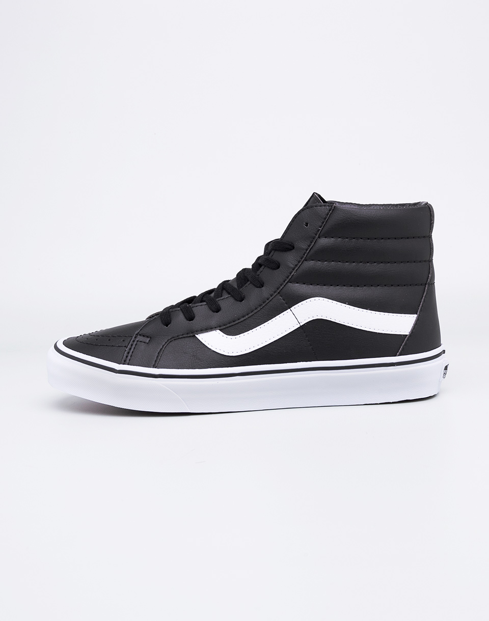 Sneakers - tenisky Vans SK8-Hi Reissue (Classic Tumble) Black / True White 41 + doprava zdarma