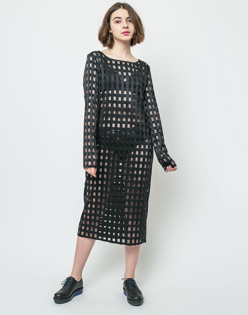 Šaty Dr. Denim Ranja Black Grid L + doprava zdarma + novinka