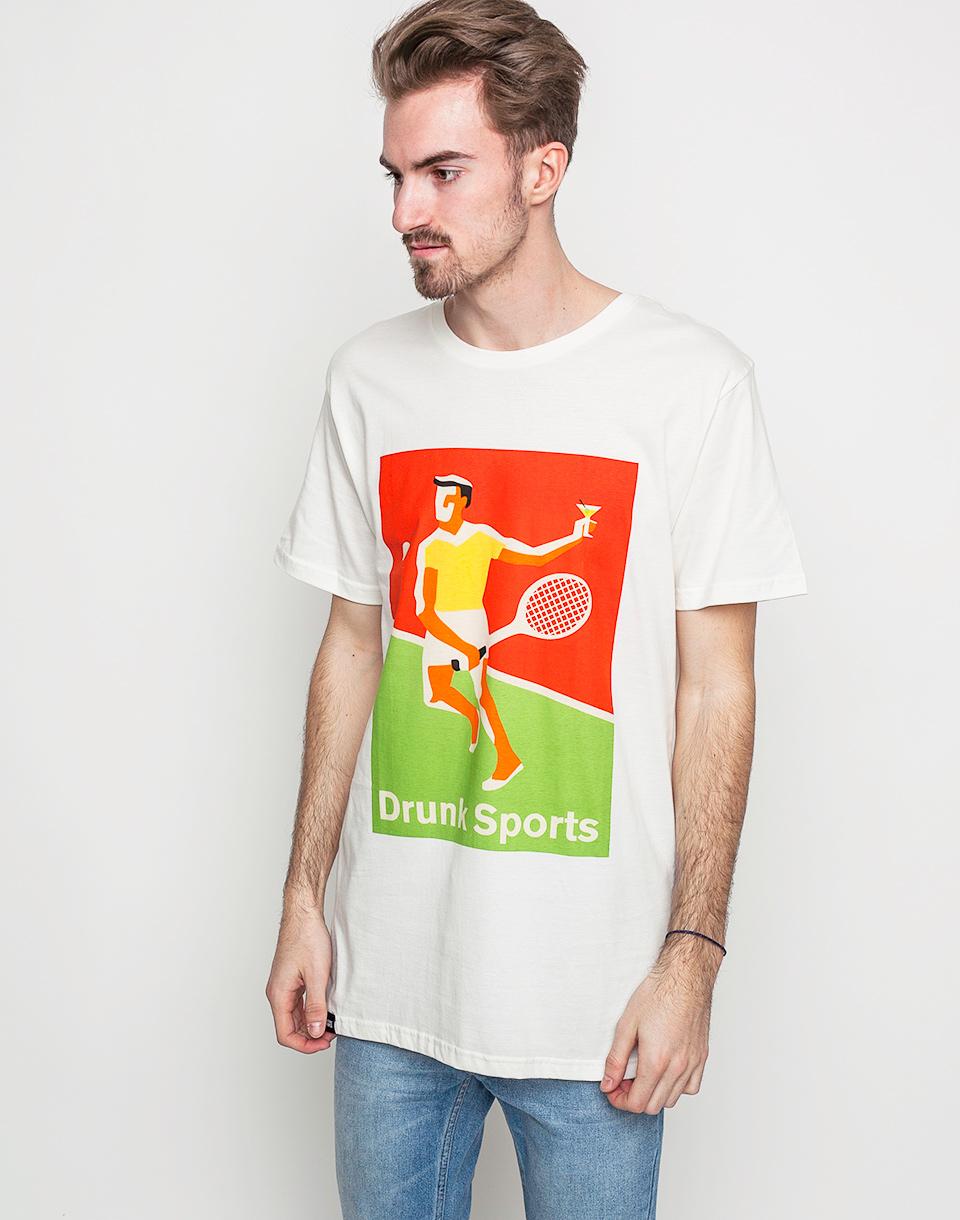 Triko Dedicated Drunk Sports White l