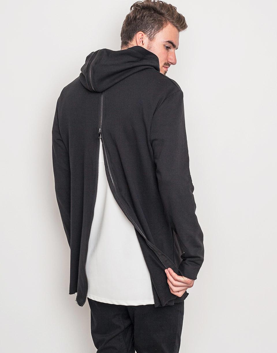 Urban Classics Long Shaped Back Zipped Black m