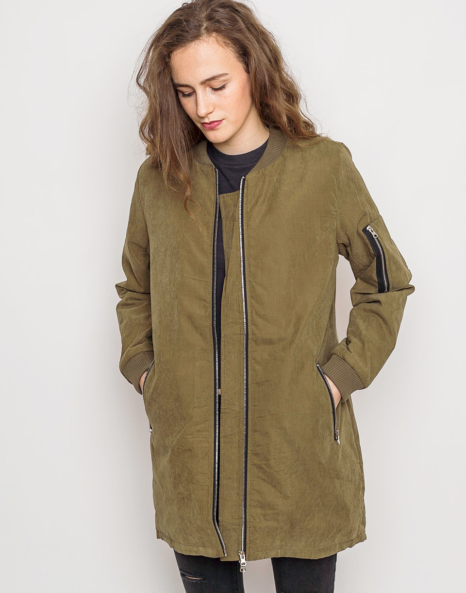 Bomber Urban Classics Peached Long Olive m