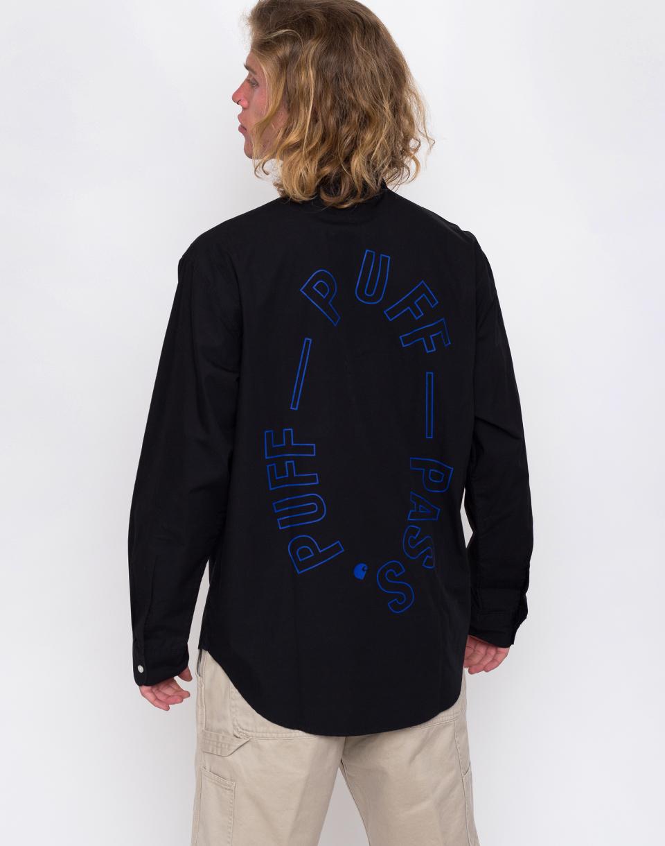 Carhartt WIP F. Kuti Half Placket Shirt Black M