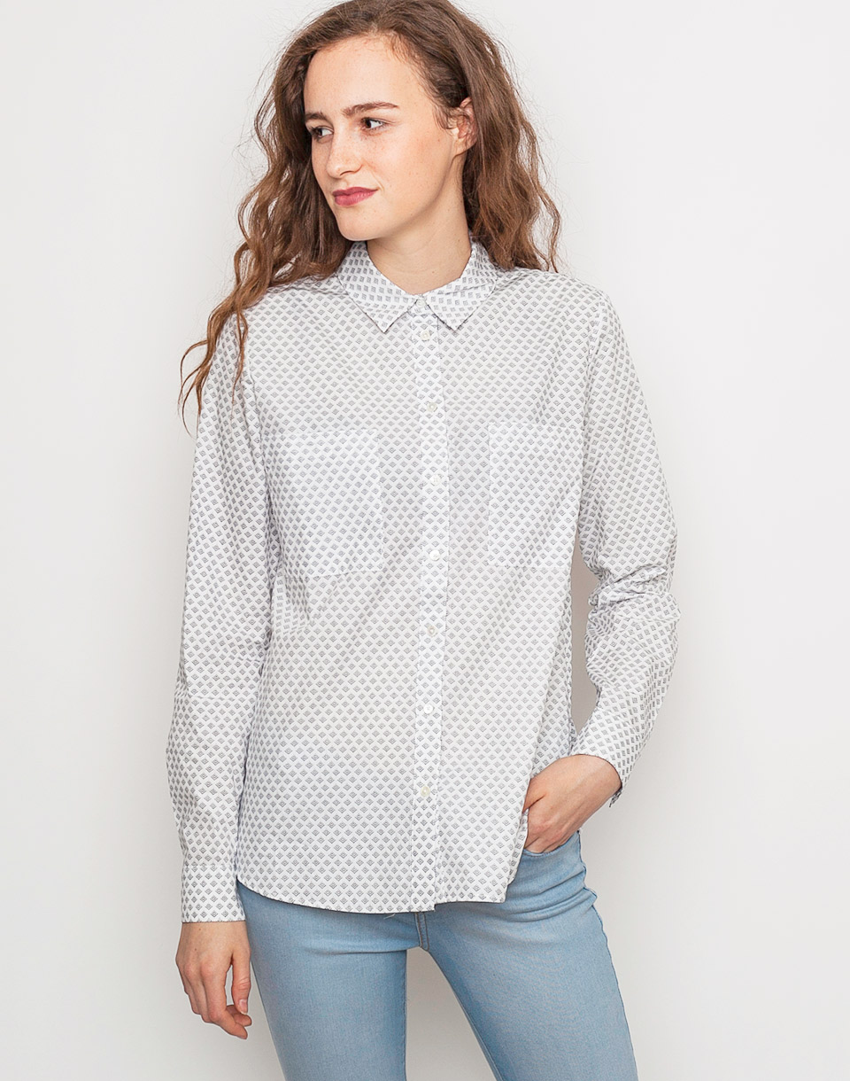 Re:draft PRINT BLOUSE POCKETS Offwhite XL