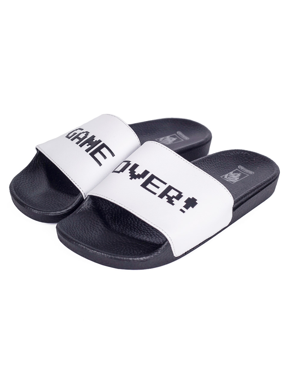 Pantofle Vans NINTENDO x Slide-On (Nintendo) white 38,5