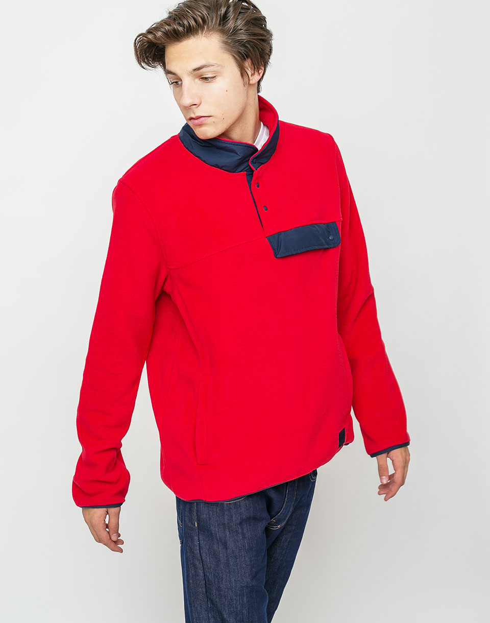 Herschel Supply Fleece Pull Over Red Peacoat M