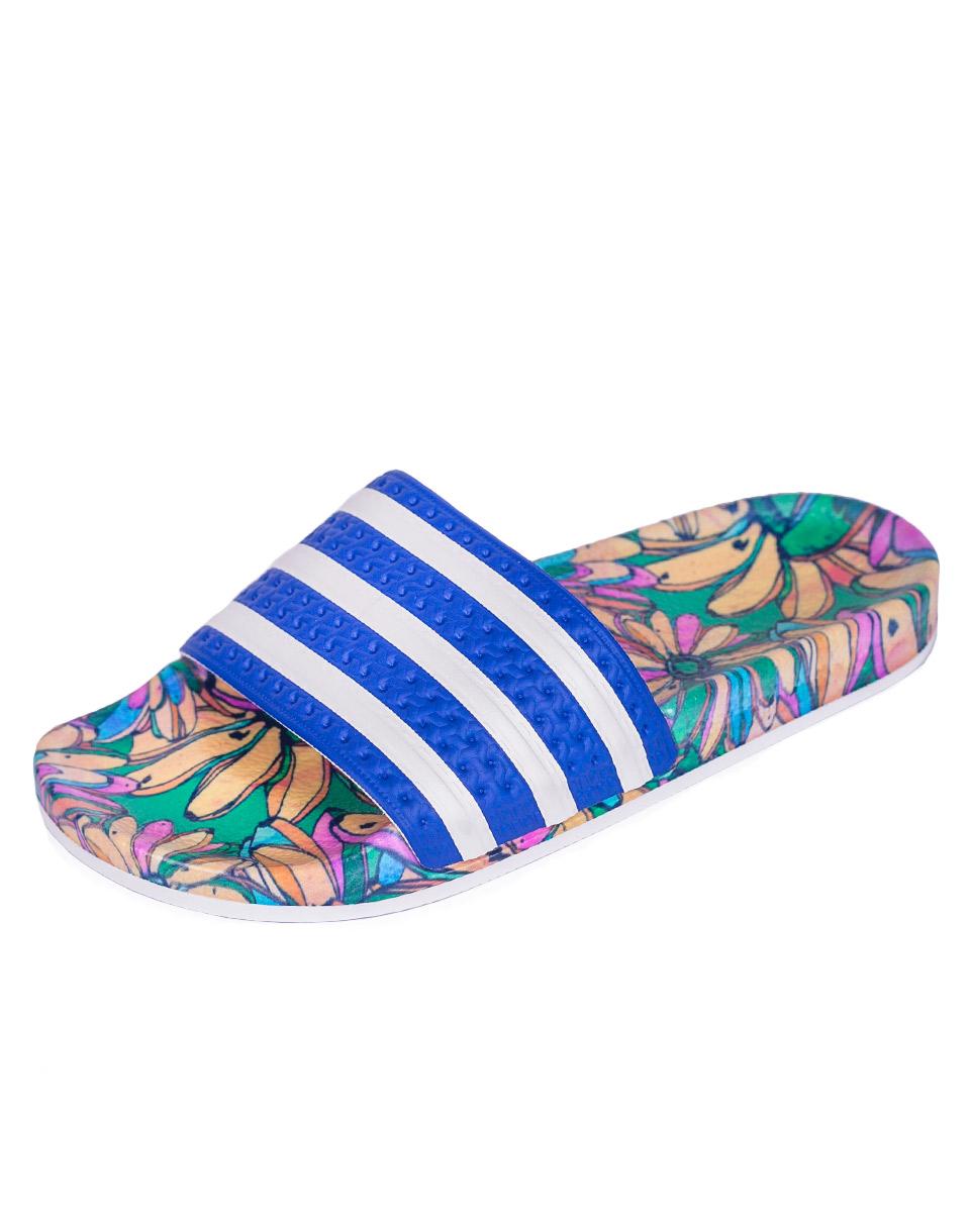 Pantofle Adidas Originals ADILETTE LABBLU/FTWWHT/LABBLU 38