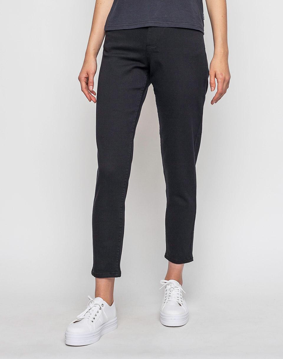 Kalhoty Afends High Waist Slim Jeans BLACK m