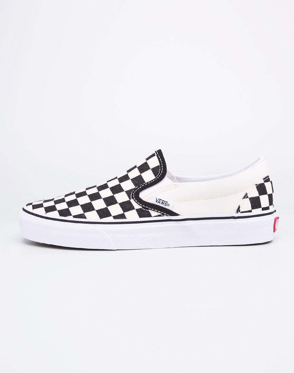 Vans Classic Slip-On Black and White Checker / White 42,5