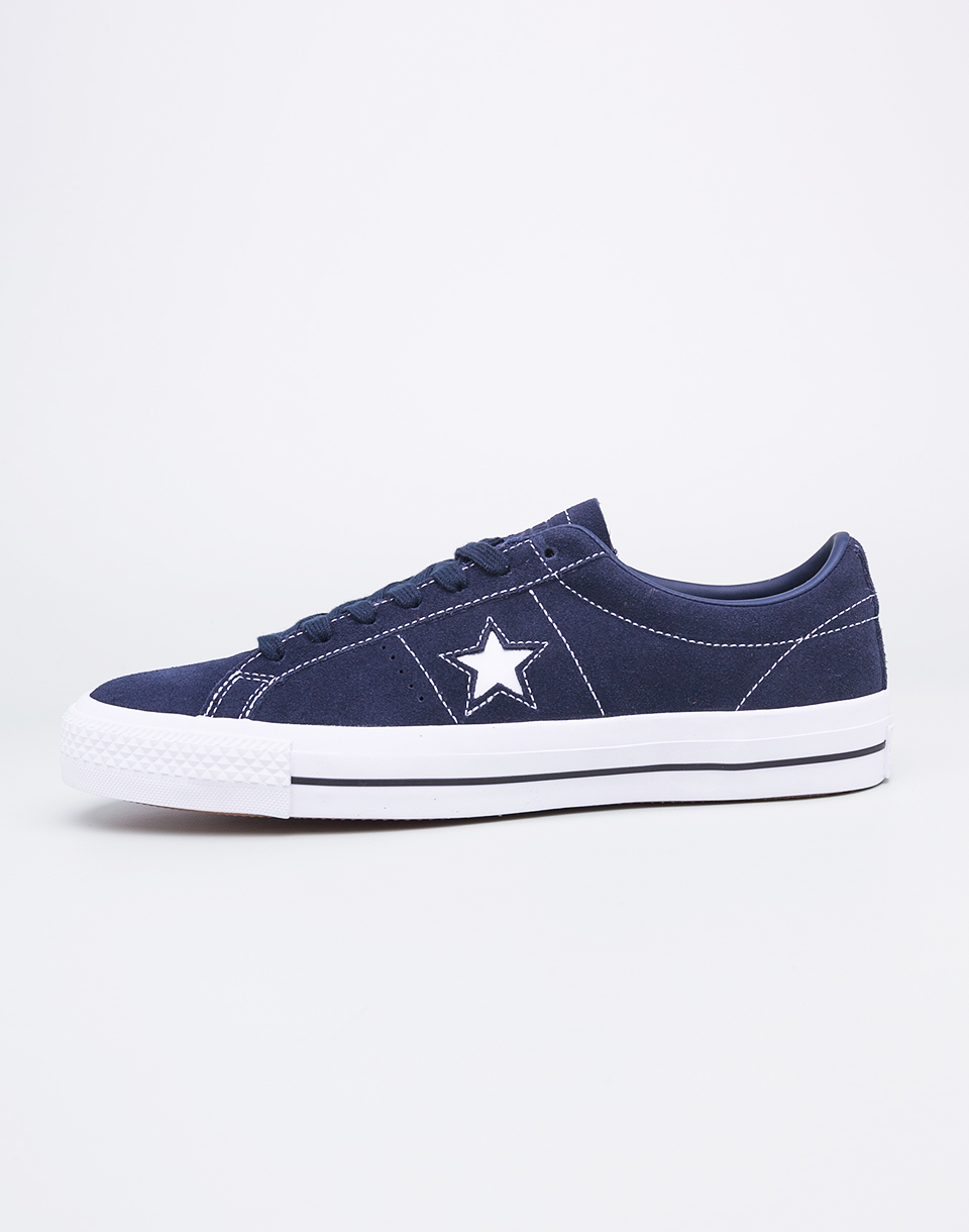 Converse One Star Pro Obsidian Obsidian White 44