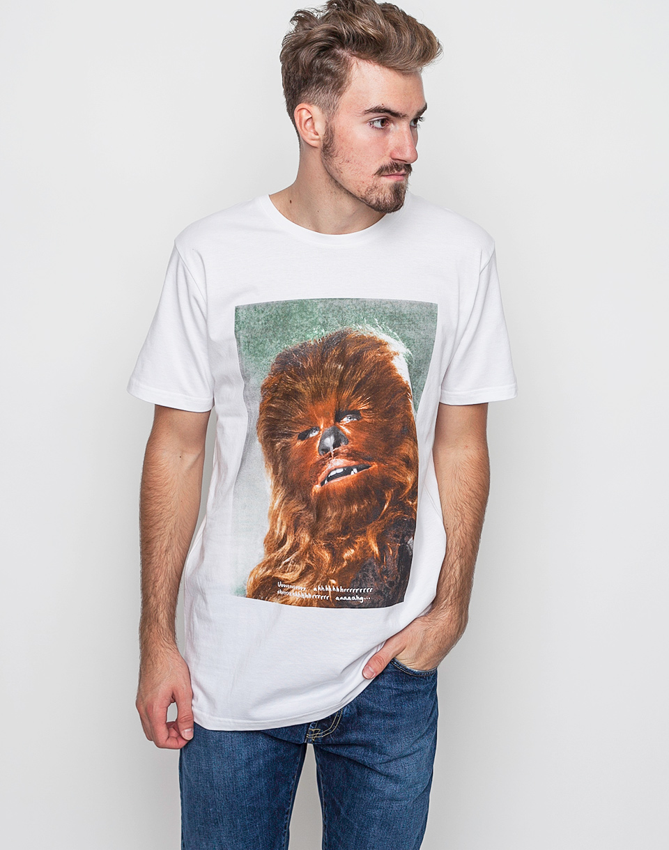 Triko Dedicated Star Wars Chewbacca Quote White xl