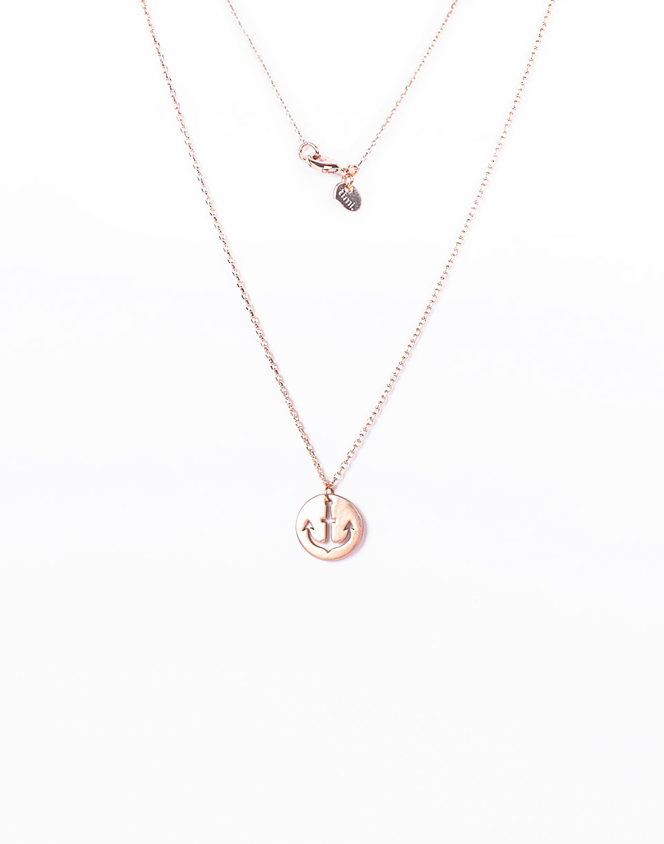 Timi Anchor Plate Necklace gold plated