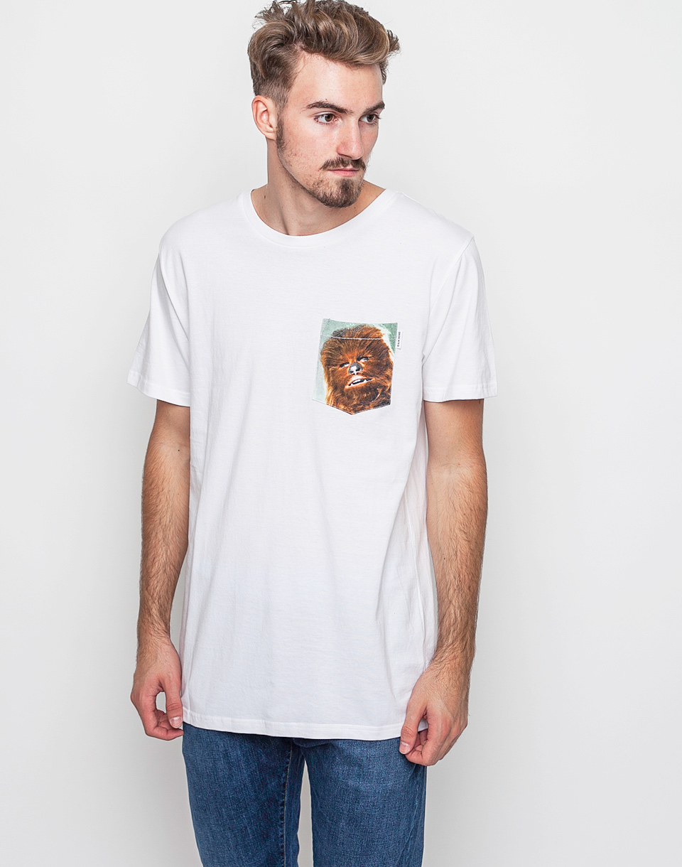 Triko Dedicated Star Wars Pocket Chewbacca White XL