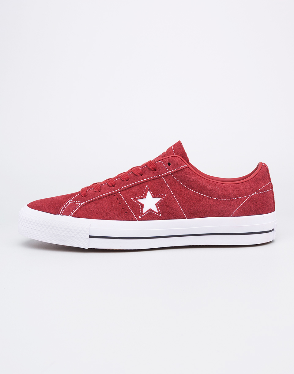 Sneakers - tenisky Converse One Star Pro Terra Red/Terra Red/White 41