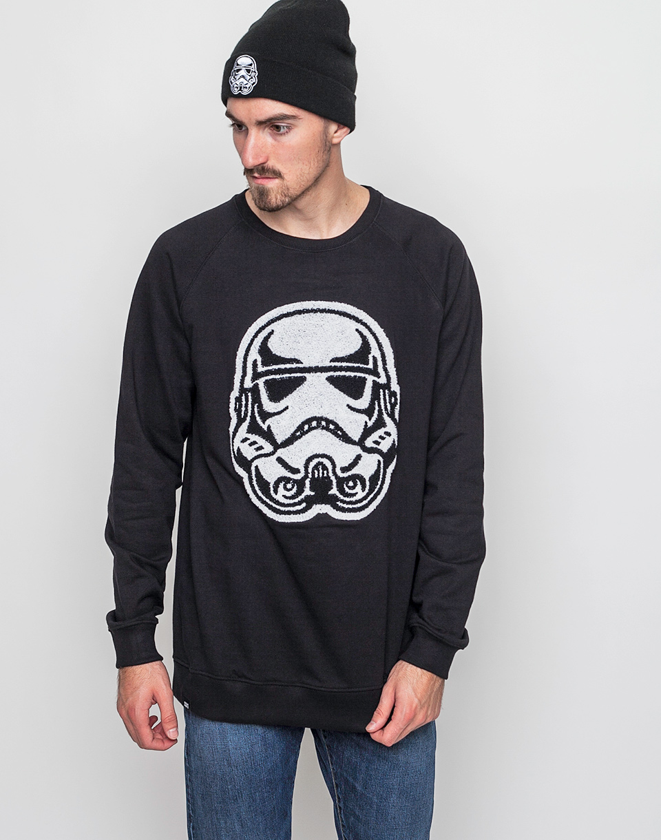 Mikina Dedicated Star Wars Sweatshirt Trooper Head Black m