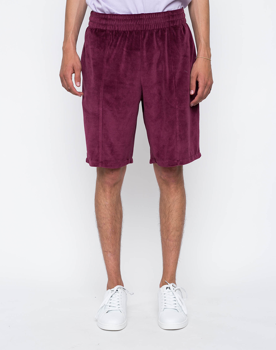 Stussy Velour Burgundy XL