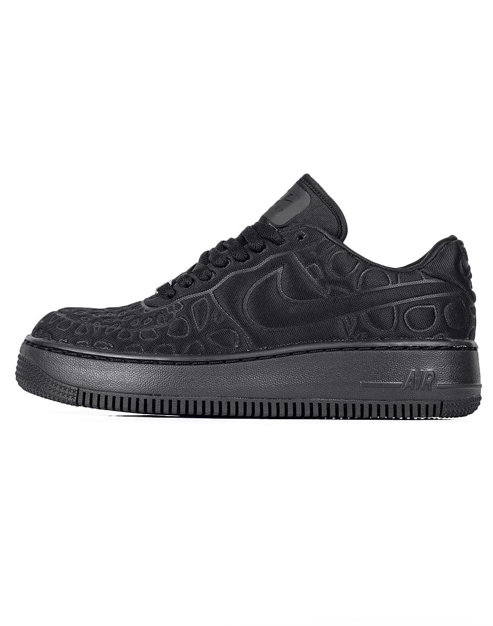 Sneakers - tenisky Nike Air Force 1 Upstep Plush Black/Black-White 38 + doprava zdarma