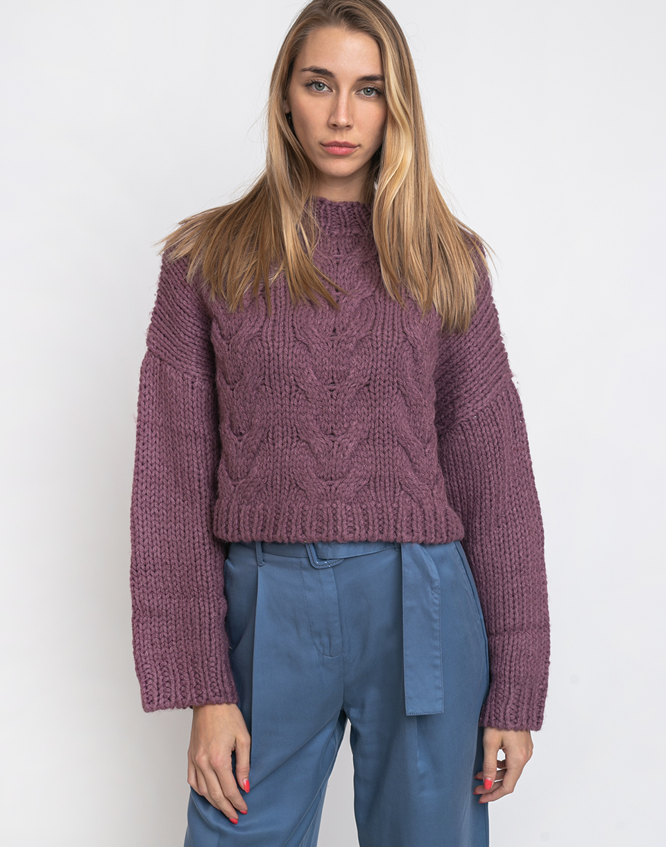 Native Youth The Belle Wool Knit Dusty Purple XS