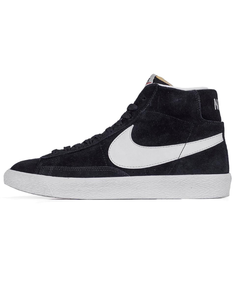 Sneakers - tenisky Nike Blazer Mid-Top Premium Black / White - Gum Light Brown 41